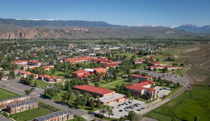 Aerial photograph of the Western campus.